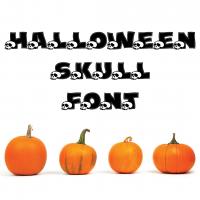 Halloween Skull Font Free SVG Files