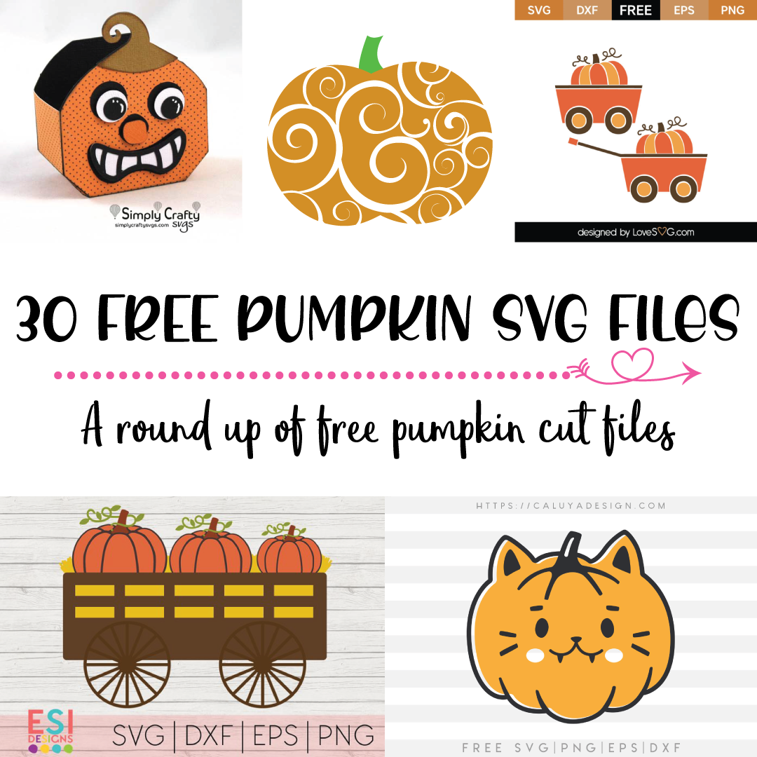 More than 30 FREE Pumpkin SVG's for Fall, Halloween and Thanksgiving