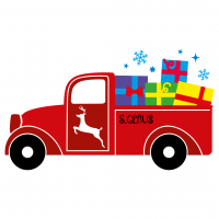 Christmas Pick Up Truck Presents Free SVG Files