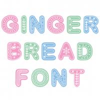 Gingerbread Font Free SVG Files