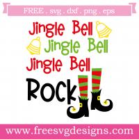 Christmas Jingle Bell Rock Free SVG Files