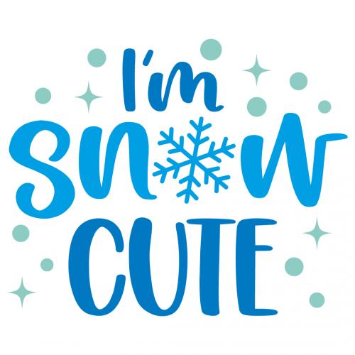 Christmas Im Snow Cute Free SVG Files