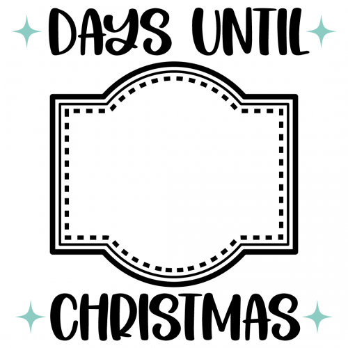Days Until Christmas Free SVG Files