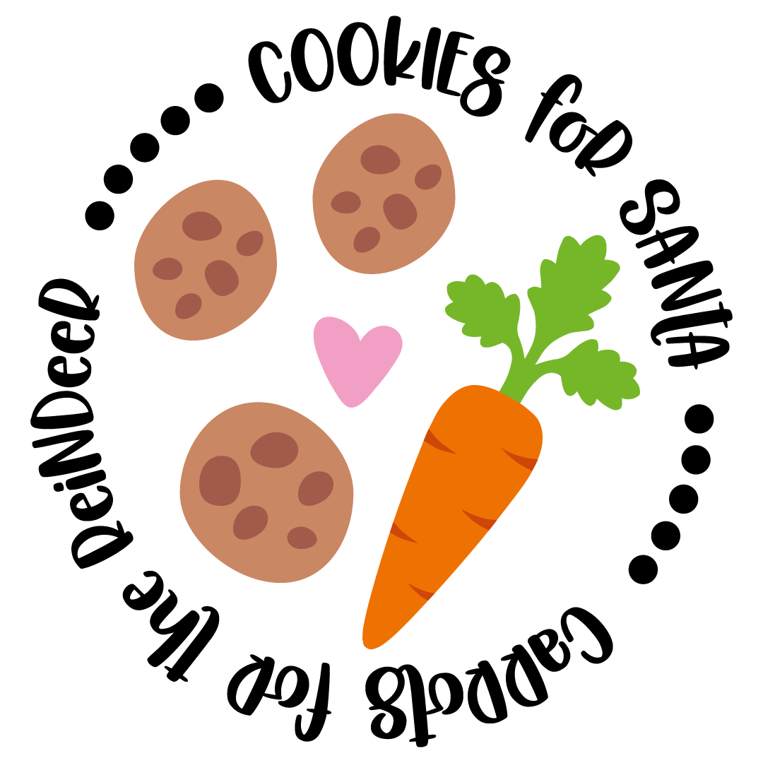 Carrots For The Reindeer Cookies For Santa Free SVG Files