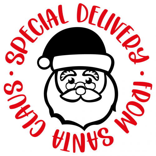 Special Delivery From Santa Claus Free SVG Files