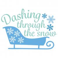 Dashing Through The Snow Free SVG Files