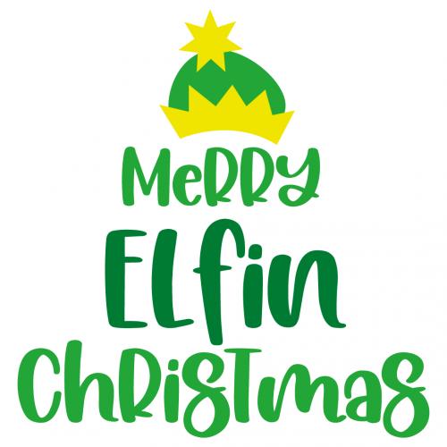 Merry Elfin Christmas Free SVG Files