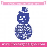 Christmas Snowflake Snowman Free SVG Files