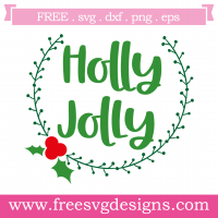 Christmas Holly Jolly Free SVG Files
