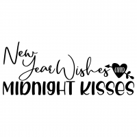 New Year Wishes Midnight Kisses Free SVG Files