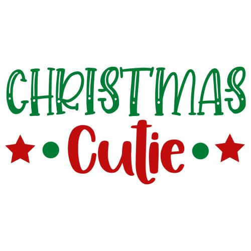 Christmas Cutie Free SVG Files
