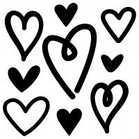 Love Hearts Hand Drawn Free SVG Files