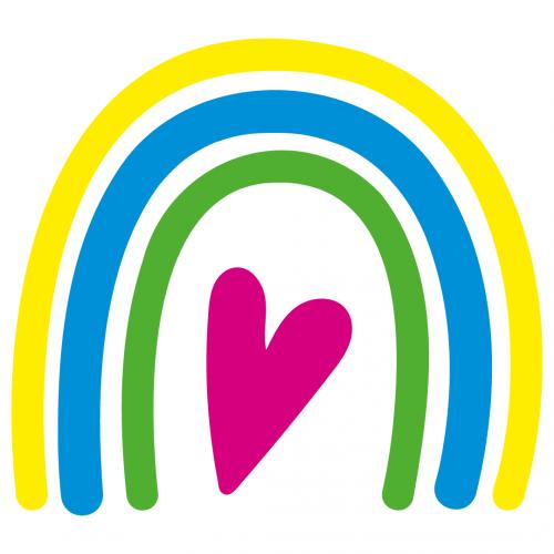 Rainbow Love Heart Free SVG Files