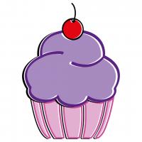 Purple Cupcake Free SVG Files
