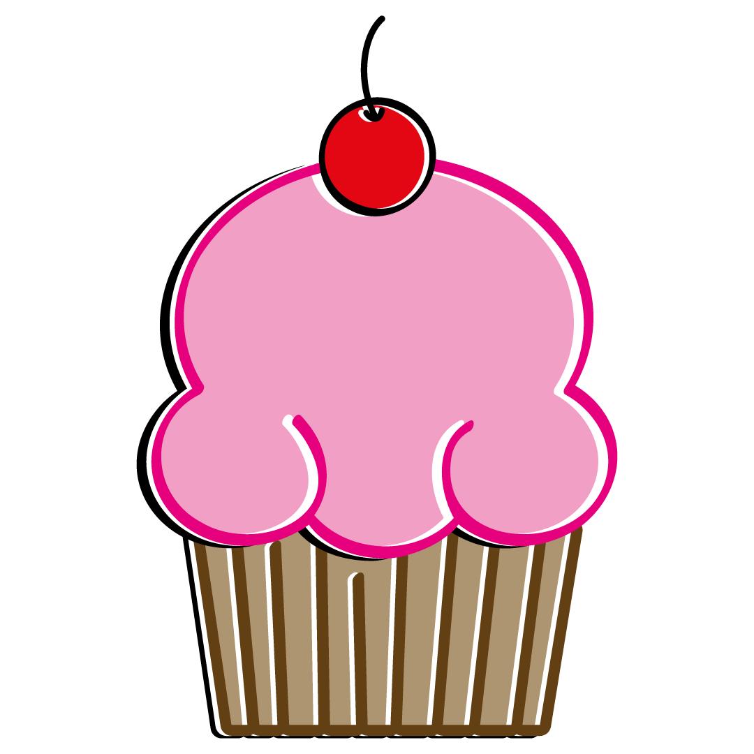 Pink Cupcake Free SVG Files