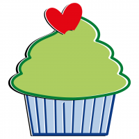 Green Cupcake Free SVG Files
