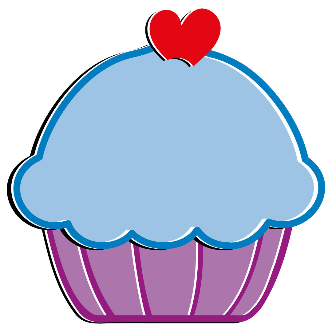 Blue Cupcake Free SVG Files