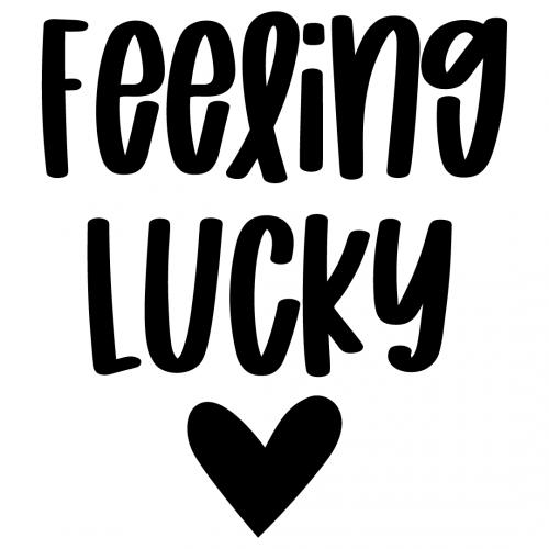 Feeling Lucky Love Heart Free SVG Files