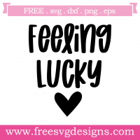 Feeling Lucky Free SVG Files