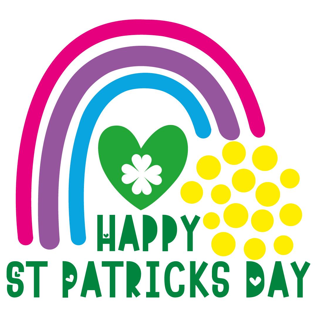Happy St Patricks Day Rainbow Free SVG Files