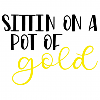 Sitting On A Pot Of Gold Free SVG Files