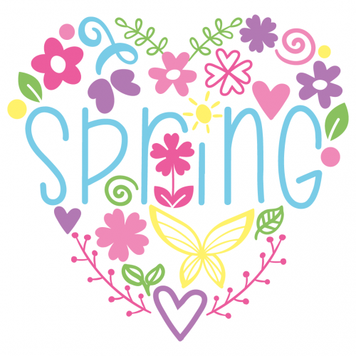 Spring Love Heart Free SVG Files