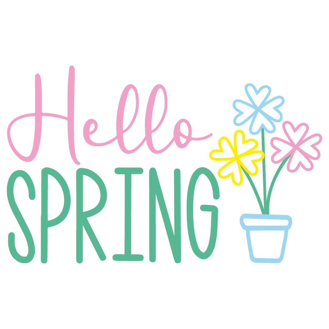 Hello Spring Free SVG Files