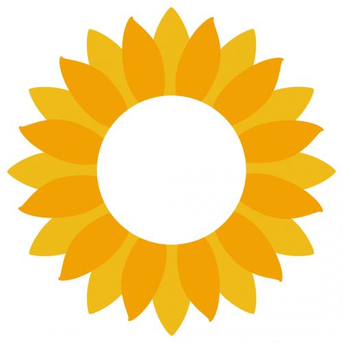 Sunflower Monogram Frame Free SVG Files