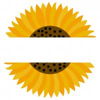 Split Sunflower Free SVG Files