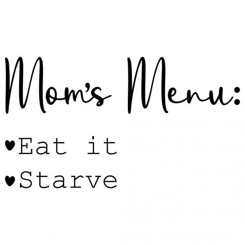 Moms Menu Free SVG Files