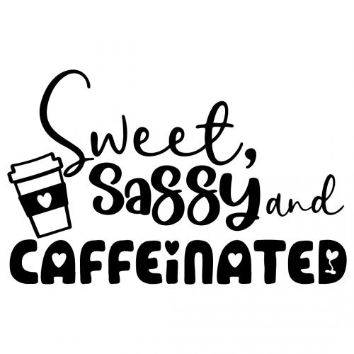 Sweet Sassy & Caffeinated Free SVG Files