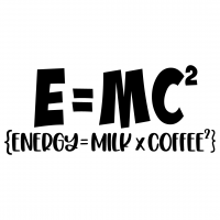 E=MC2 Energy Milk Coffee Free SVG Files