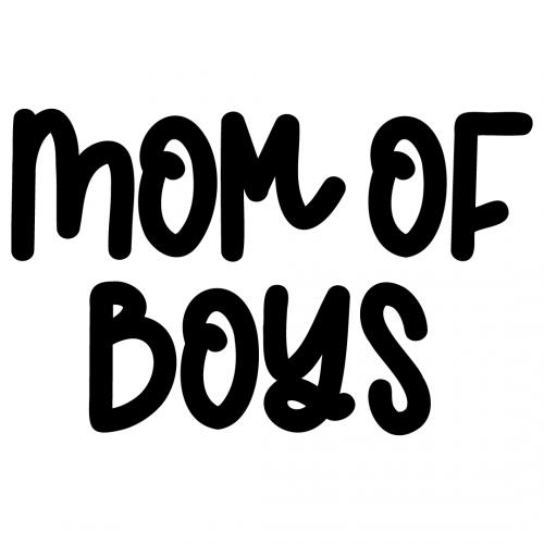 Mom Of Boys Free SVG Files