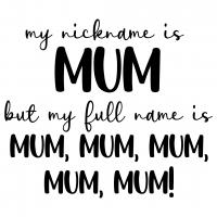 My Nickname Is Mum Free SVG Files