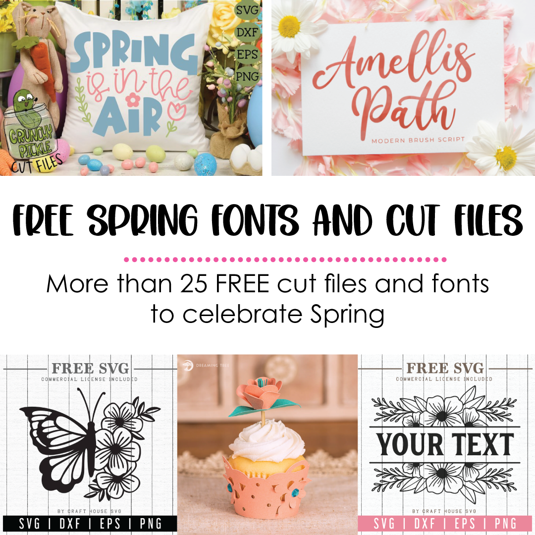 20 FREE Spring fonts and SVG files