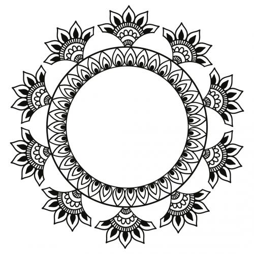 Mandala Monogram Frame Free SVG Files