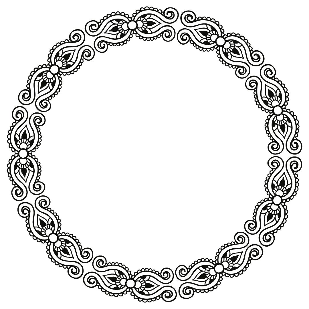 Floral Ornate Monogram Frame Free SVG Files