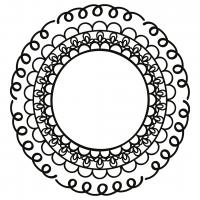 Hand Drawn Doodle Monogram Frame Free SVG Files