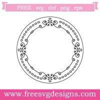 Hand Drawn Doodle Love Heart Monogram Frame Free SVG Files