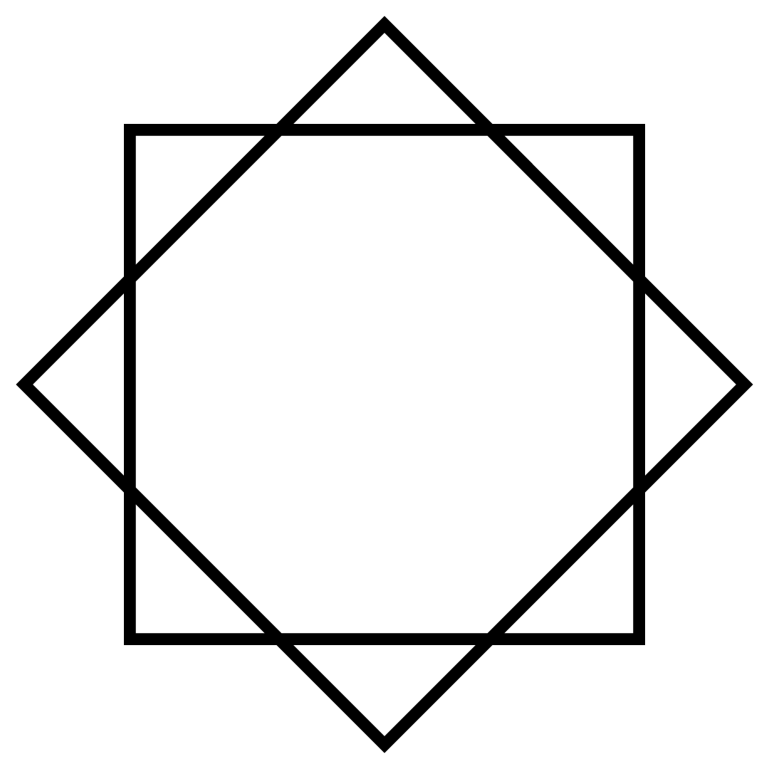 Diamond Square Monogram Frame Free SVG Files
