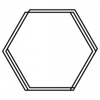 Hexagon Monogram Frame Free SVG Files