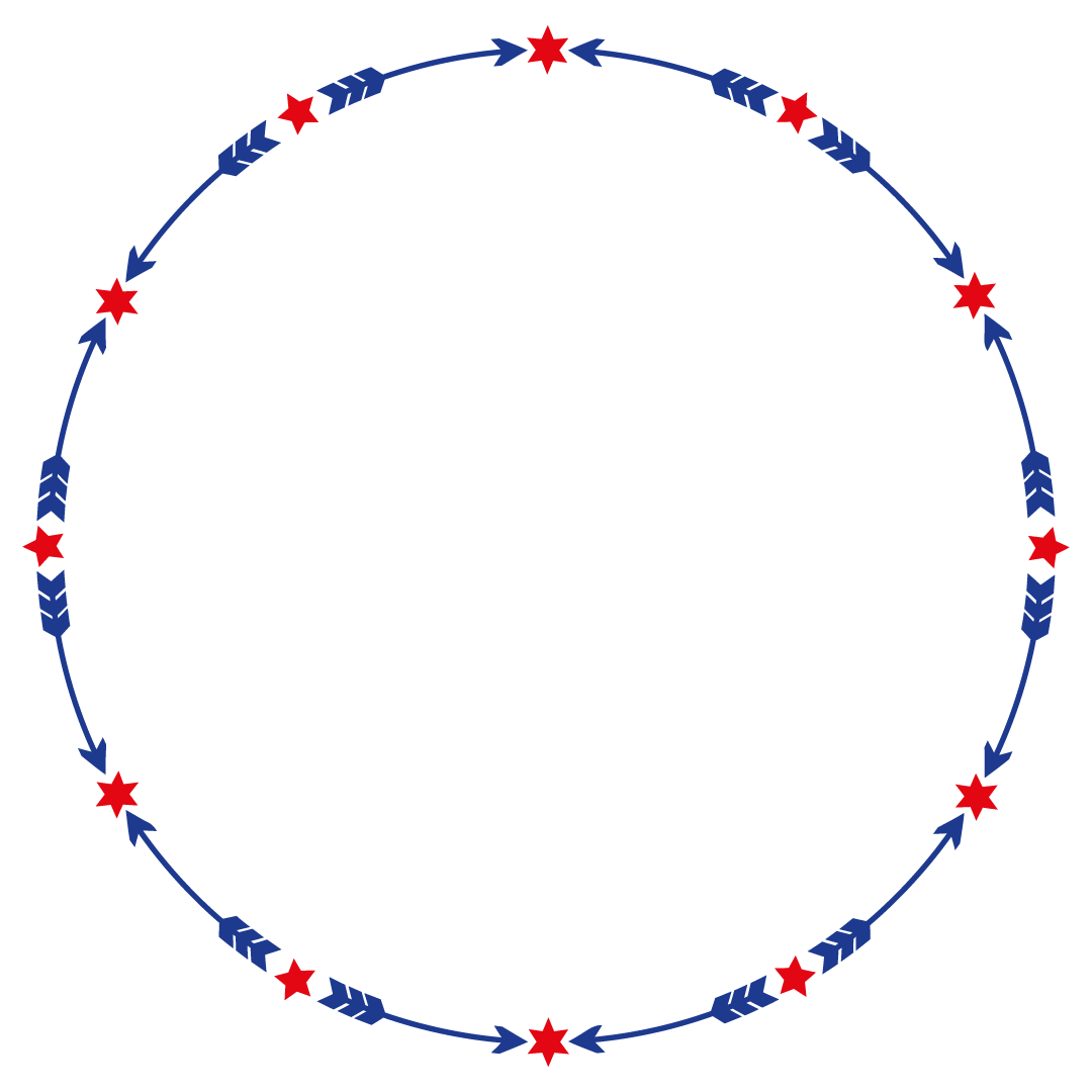 Arrow Stars Monogram Frame Free SVG Files
