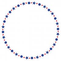 Stars Circles Monogram Frame Free SVG Files