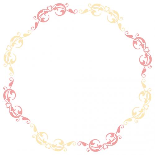 Ornate Monogram Frame Free SVG Files