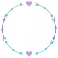 Love Heart Arrows Monogram Frame Free SVG Files