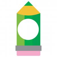 School Pencil Monogram Frame Free SVG Files