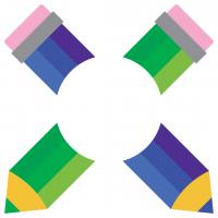 School Pencils Monogram Frame Free SVG Files