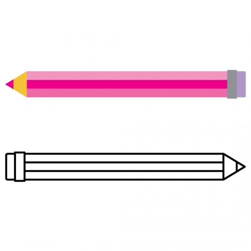 School Pencil Silhouette Free SVG Files