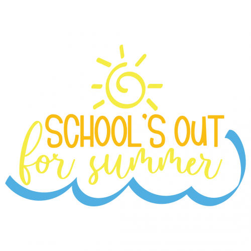 Schools Out For Summer Free SVG Files
