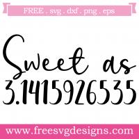 Math Sweet As Pi Free SVG Files